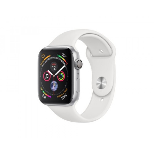 Apple Watch Series 4 GPS + LTE 44mm Steel w. White Sport b. Steel (MTX02)
