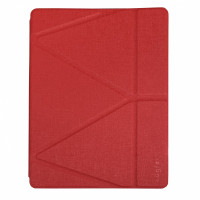 Чехол для iPad Pro 12.9 (2020) Origami Case Leather Embossing (red)