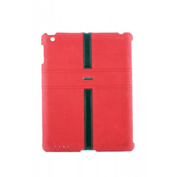 Чехол Накладка для iPad 2/3/4 i Mobo (красный) (кожа)