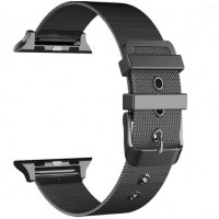 Ремешок-браслет для Apple Watch 38mm Milanese New Loop Band (Black)