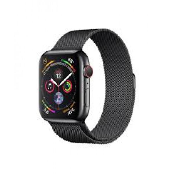 Apple Watch Series 4 GPS + LTE 44mm Black Steel w. Black Milanese l. Black Steel (MTX32)