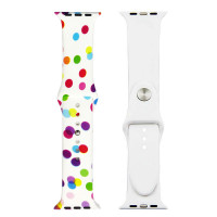 Ремешок-браслет для Apple Watch 42mm Silicone Sport Band picture (bubbles white )
