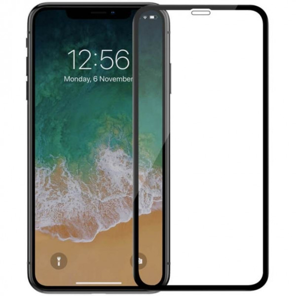 Защитное стекло для iPhone Xr Adpo 0.33 (black)