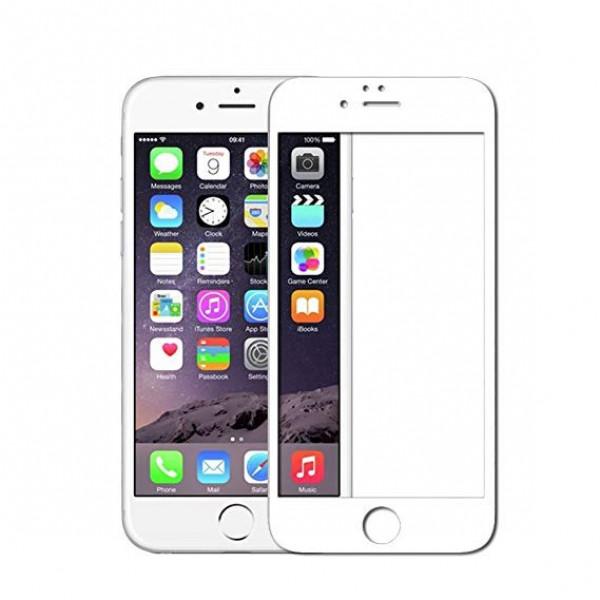 Защитное стекло 5D iPhone 6/6S Plus (white)