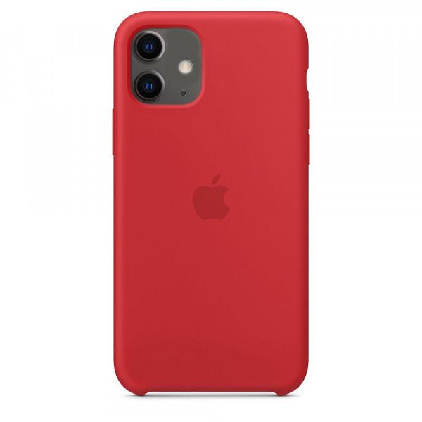 Чехол Накладка для iPhone 11 Apple Silicon Case (Red) (Полиулетан)