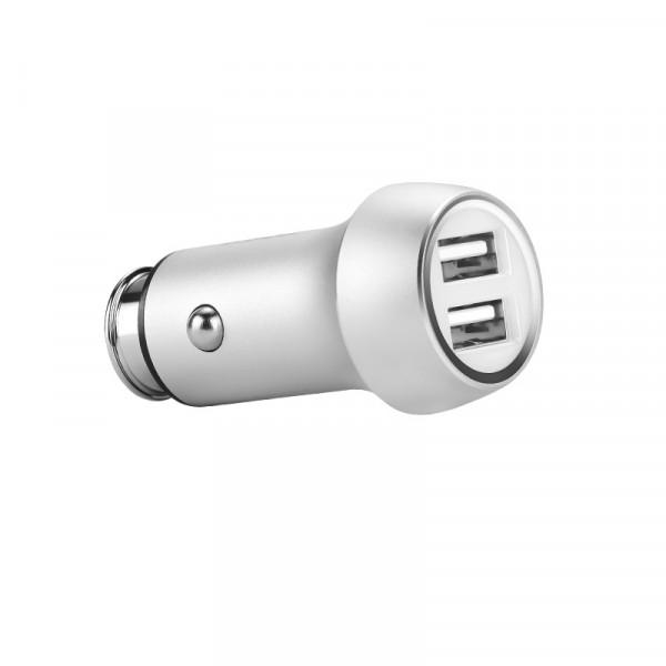 Автомобильное зарядное устройство Hoco Z7 Kingkong Dual USB Car Charger (Silver)