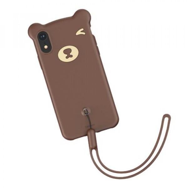 Чехол накладка iPhone Xr  Baseus Bear  Case (brown)
