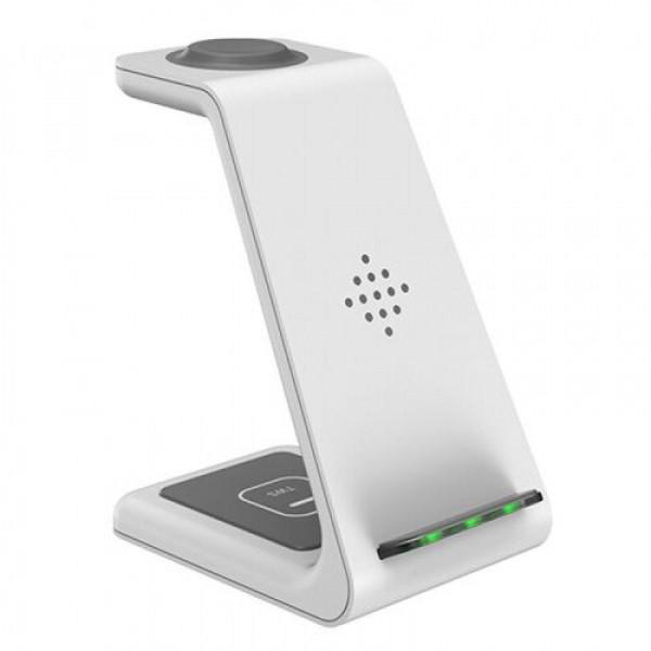 Беспроводное зарядное устройство Smart 3in1 T3 Fast 15W (white)