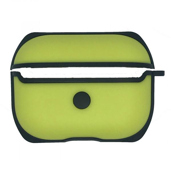 Чехол для AirPods Pro WiWU Silicone Case C002 (Black Yellow)