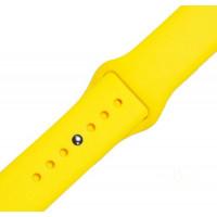 Ремешок-браслет для Apple Watch 38mm Silicone Band (yellow)