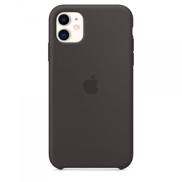Чехол Накладка для iPhone 11 Apple Silicon Case (Black) (Полиулетан)