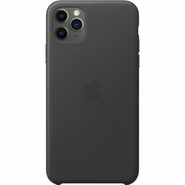 Чехол Накладка для iPhone 11 Pro Max Apple Leather Case (Black)