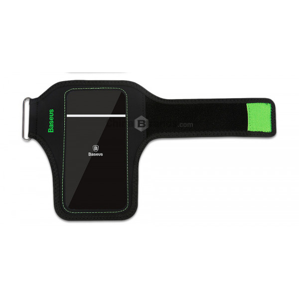 Чехол на руку Baseus Flexible Wristband 5.8 (Black-Green)