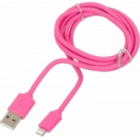 Кабель Apple Lightning  (USB 1.2 m) (Ткань) (Розовый)