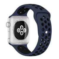 Ремешок-браслет для Apple Watch 42mm Silicone Nike Sport Band (obsidian-black)