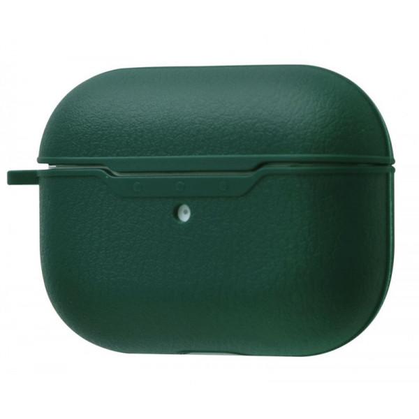 Чехол для AirPods Pro Leather Case (midnight green)