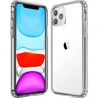 Чехол Накладка для iPhone 11 Pro Simple Silicone Case (Transparent) (Полиулетан)