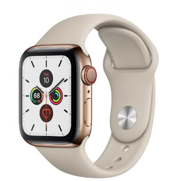 Apple Watch Series 5 LTE 40mm Gold Steel w. Stone b.- Gold Steel (MWWU2)