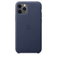 Чехол Накладка для iPhone 11 Pro Apple Leather Case (Midnight Blue)
