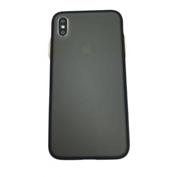 Чехол накладка iPhone Xs Max Gingle Series (black/orange)