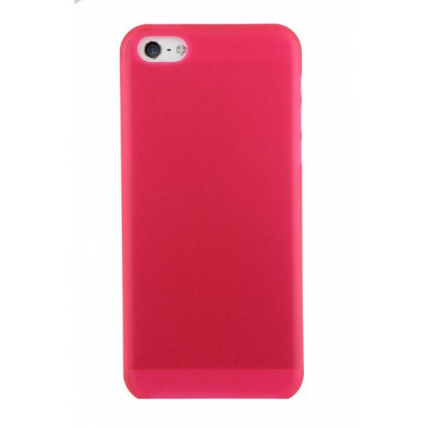 Чехол Накладка для iPhone 5C Ultra Slim Case  (Малиновый) (Пластик)