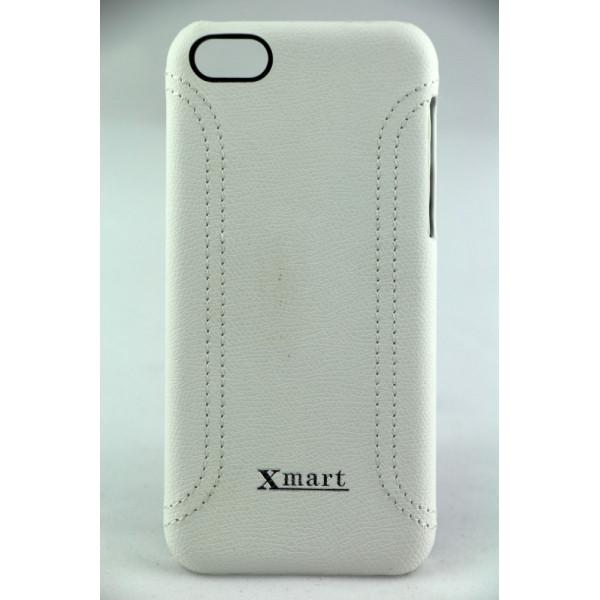 Чехол Накладка для iPhone 5C XMART NEW MIX (белый) (кожа)