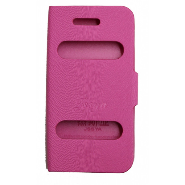 Чехол Книжка для iPhone 4/4S JSSYA (Розовый) (Полиулетан)