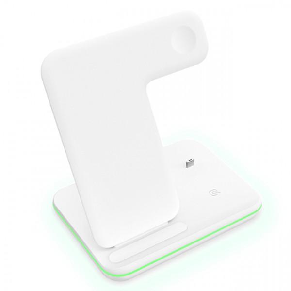 Беспроводное зарядное устройство Smart 3in1 Fast 15W (white)