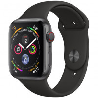 Apple Watch Series 4 GPS + LTE 40mm Black Steel w. Black Sport b. Black Steel (MTVL2)