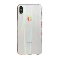 Чехол накладка iPhone Xs Max Rainbow Case (Clear)