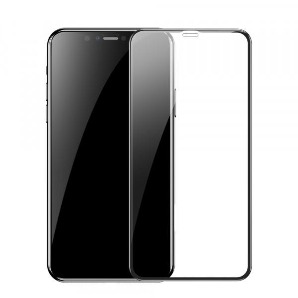 Защитное стекло iPhone Xr 9H Glass Shield 9D (black)