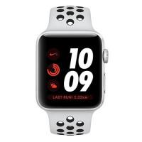 Apple Watch Nike+ Series 3 GPS + Cellular 42mm Silver Aluminum w. Pure Platinum/BlackSport B. (MQME2)