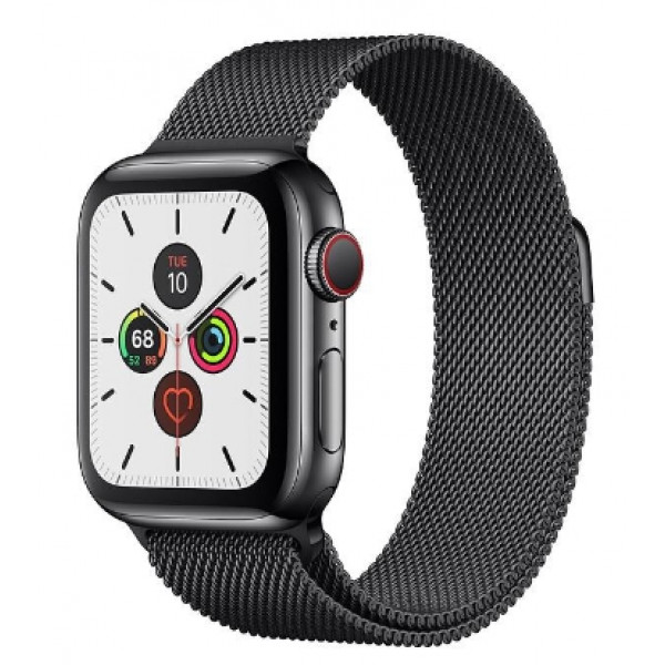 Apple Watch Series 5 LTE 40mm Space Black Steel w. Space Black Milanese Loop - Space Black Steel (MWWX2)