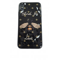 Чехол накладка iPhone Xs Max Rhombus Gucci Blind for Love (black)