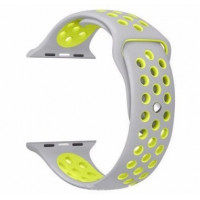 Ремешок-браслет для Apple Watch 38mm Silicone Nike Sport Band (Grey-Green)