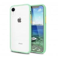 Чехол накладка iPhone Xr Gingle Series (mint/orange)