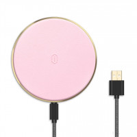 Безпроводное зарядное устройство WiWU Quantus Wireless Charger QC100 (Pink)