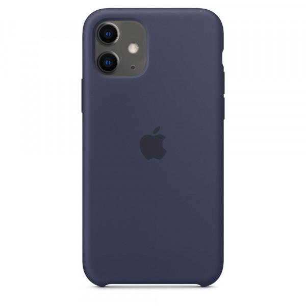 Чехол Накладка для iPhone 11 Apple Silicon Case (Midnight Blue) (Полиулетан)