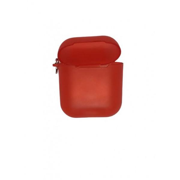 Чехол для AirPods Silicone Case matte (red)