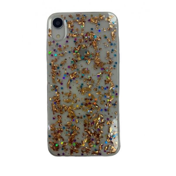 Чехол накладка iPhone Xr  Magic Brilliance (gold)