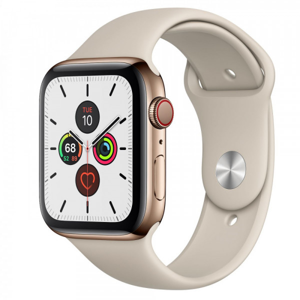 Apple Watch Series 5 LTE 44mm Stainless Steel Case with Stone Sport Band (MWWH2)
