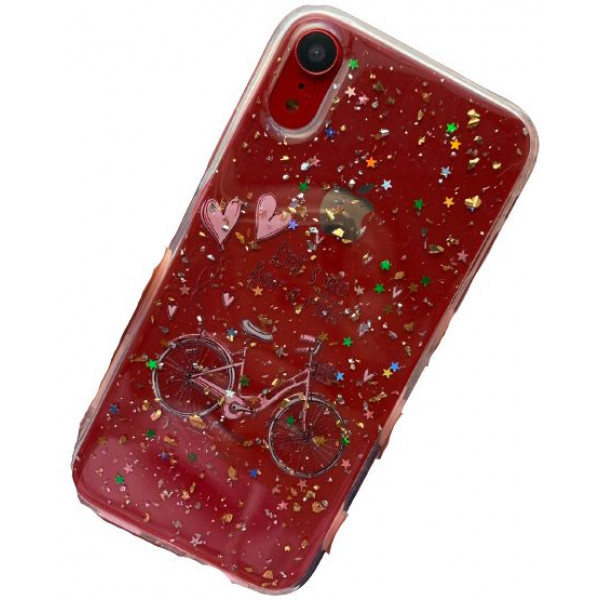 Чехол накладка iPhone Xr  Magic Bicycle (cristal)