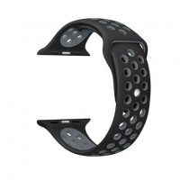 Ремешок-браслет для Apple Watch 38mm Silicone Nike Sport Band (obsidian-black)