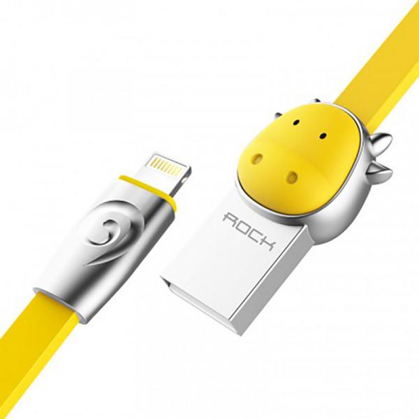 Кабель ROCK Ox Lightning (1m) (Yellow)