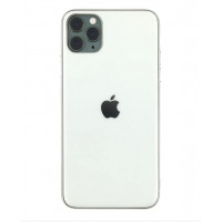 Чехол Накладка для iPhone 11 Pro Glass Silicone Case Logo (silver)