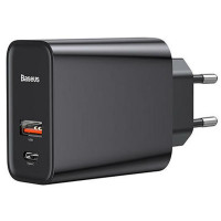 Сетевое зарядное устройство Baseus Speed PPS Quick Charger PDout/USB/30W/5A/QC/PD Black