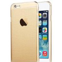 Чехол Накладка для iPhone 6 TOTU Air (Прозрачный золотистый) (Пластик)