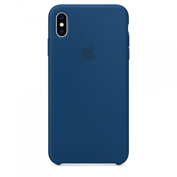 Чехол Накладка для iPhone Xs Max Apple Silicon Case (Blue Horizon ) (Полиулетан)