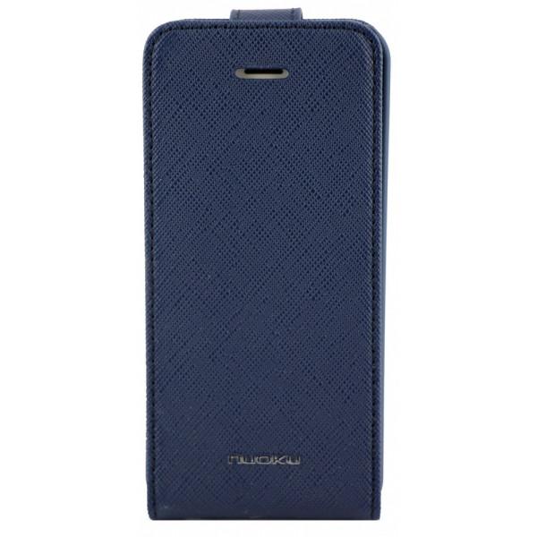 Чехол Флип для iPhone 5C NUOKU CRADLE (Синий) (Преcсованая кожа)