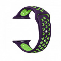 Ремешок-браслет для Apple Watch 42mm Silicone Nike Sport Band (purple-green)